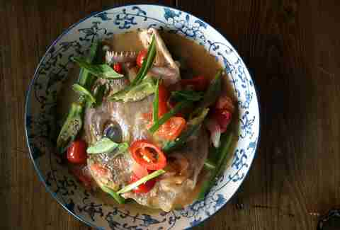 Sour Fish Head Soup at Yunnan Kitchen
