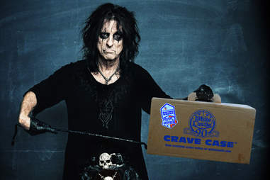 Alice Cooper with White Castle Crave Case