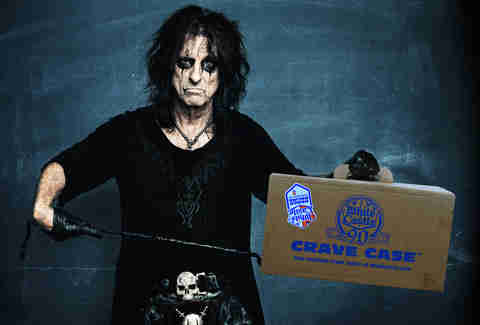 Alice Cooper with White Castle Crave Case
