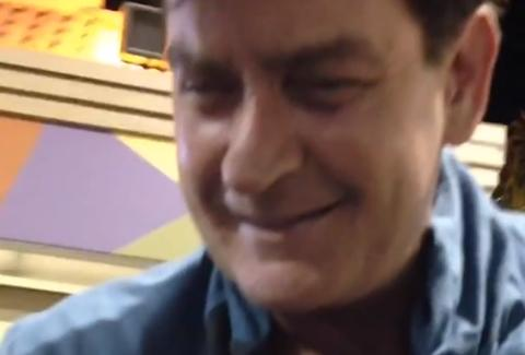 Drunk Charlie Sheen in Taco Bell drive-thru
