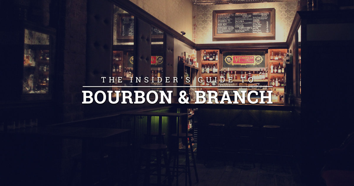 How To Get Into Bourbon And Branch Main Bar Library