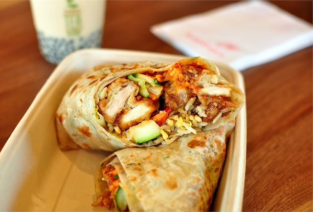 There\'s a LA Panda Express that\'s now doing orange chicken burritos