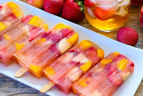 Iced tea sangria popsicles