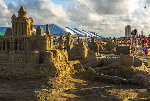 An award winning sandcastle