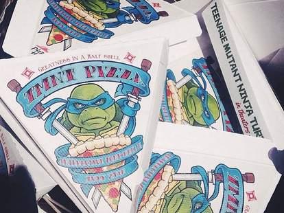 TMNT pizza boxes