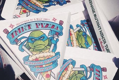 TMNT pizza boxes