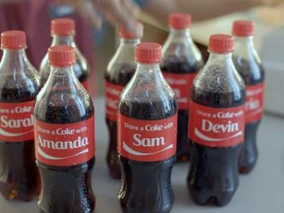 Share a Coke bottles