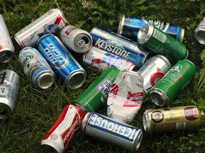 Pile of canned beers