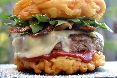 Funnel cake burger