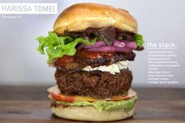 Harissa Tomei burger