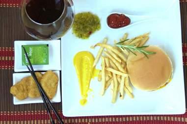 fancy fast-food plate