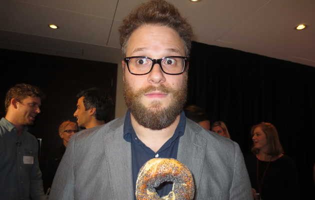I made Seth Rogen and Al Madrigal eat bagels against their will