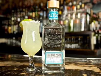A bottle of Olmeca Altos