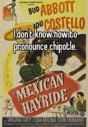 Whisper confession Chipotle pronunciation