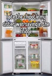 Whisper confession sister's Chipotle