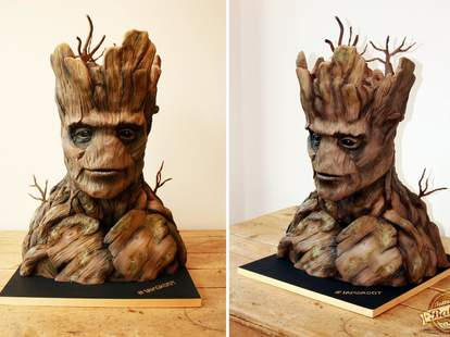 Guardians of the Galaxy Groot cake