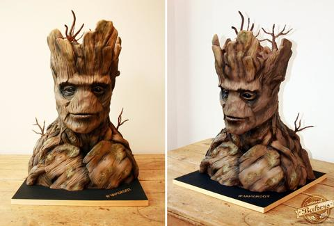 guardians of the galaxy cake tattooed bakers make groot cake