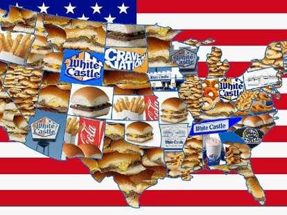 White Castle America map