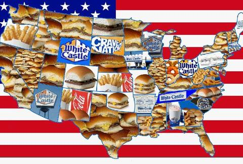 White Castle America map