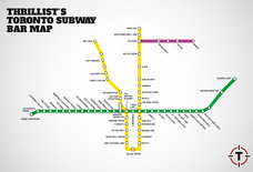 Toronto's first-ever subway bar map