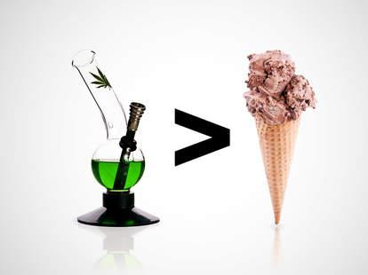 bong and ice cream