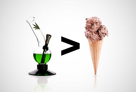 bong and ice cream