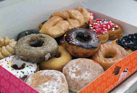 Dunkin' Donuts box of donuts