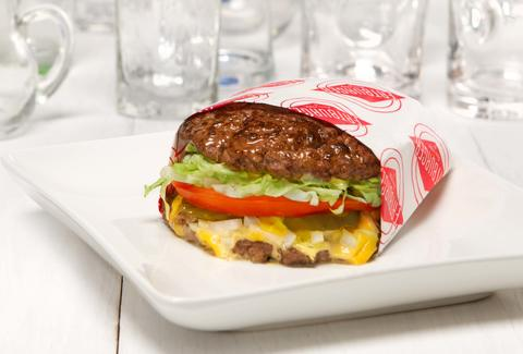 Fatburger protein style burger