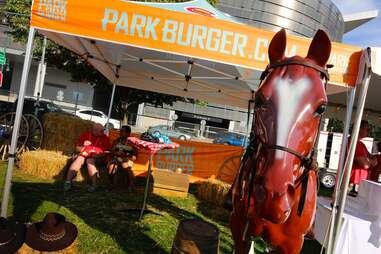horse at Burger Battle