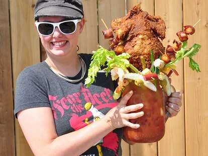 Fried chicken Bloody Mary