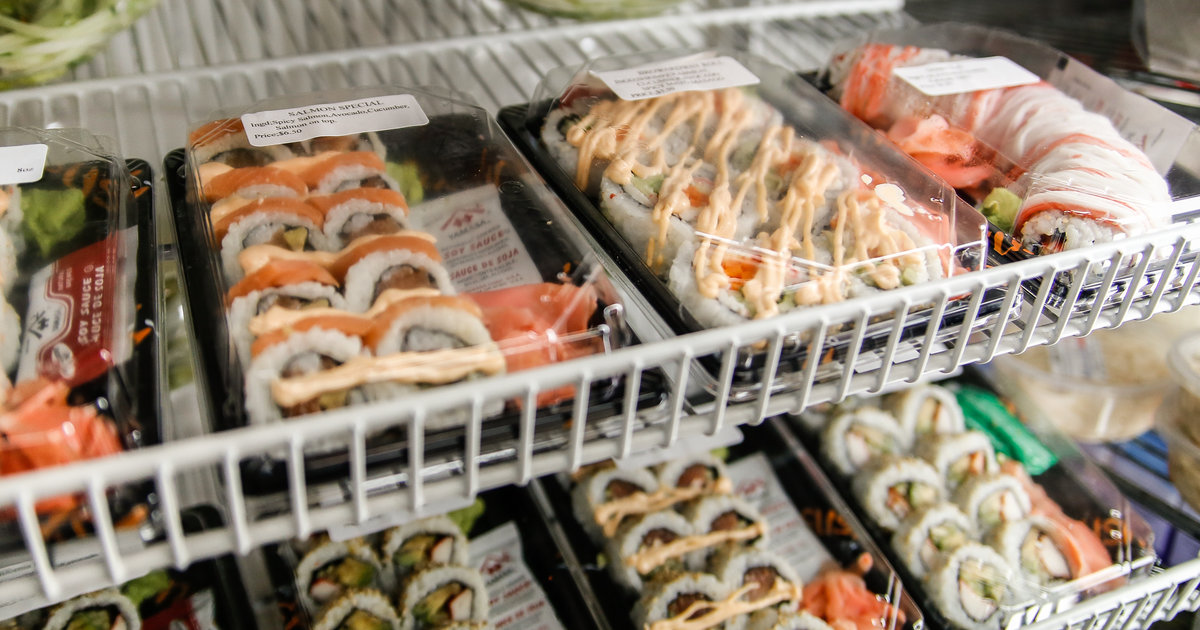 Sushi Ingredients Used In Prepackaged Version Fail To