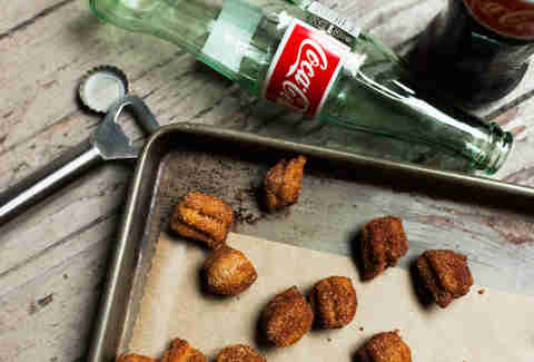 Not just deep fried coke, but Mexican coke, were used to make these mini churros — Thrillist Recipes