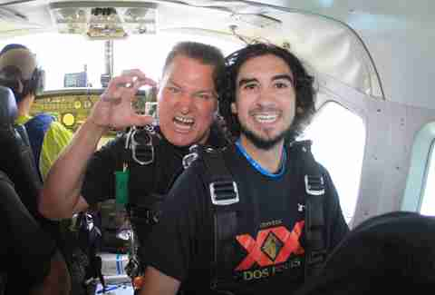 Pete and Skydive instructor