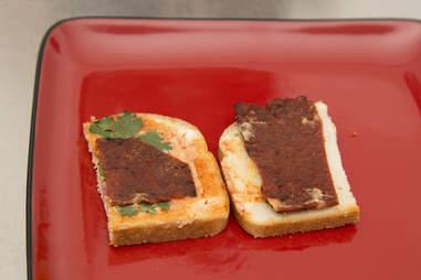 Jerky Sandwich Open