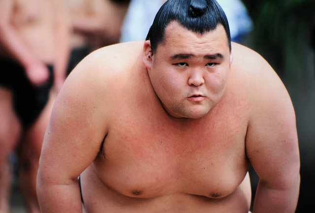​Q: How many sumo wrestlers can fit on a plane?