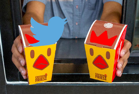 Twitter reactions to Burger King Chicken Fries