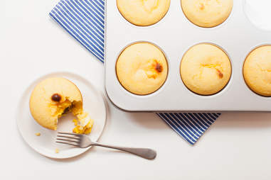 Breakfast sandwich stuffed muffin — Thrillist Recipes