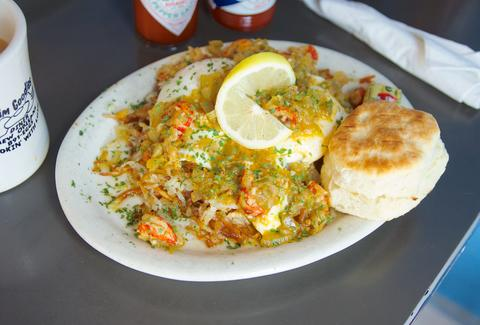 Amazing Creole breakfast food at Slim Goodies Diner in New Orleans