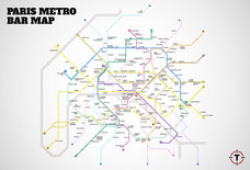 Introducing Paris' first Metro Bar Map