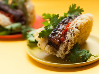 Ramen Taco with Pork Belly Filling — Thrillist Recipes