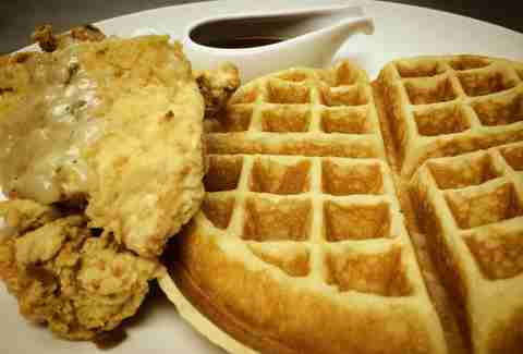 Chicken and Waffles at Southern Charm Gainesville FL