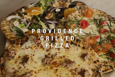 grilled pizza - providence rhode island style