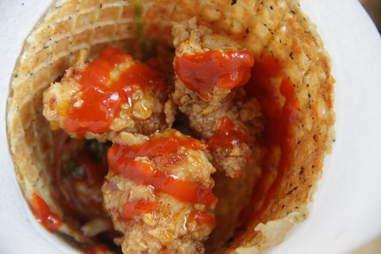 Chicken and Wafflecone Brooklyn Star