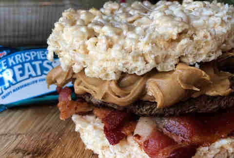 Rice Krispie bun burger