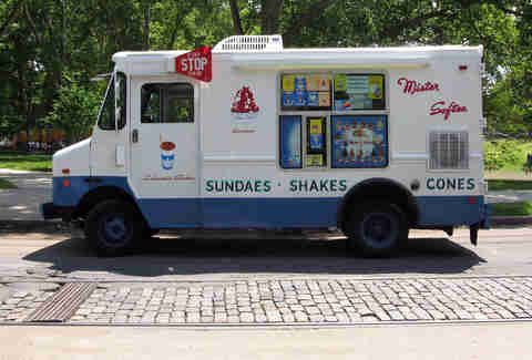 An ice cream truck