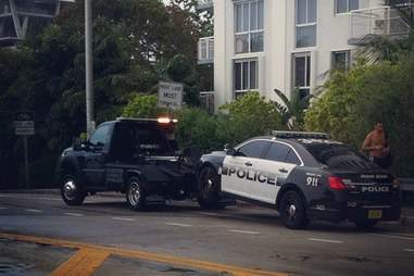 Miami Beach Police Car Tow