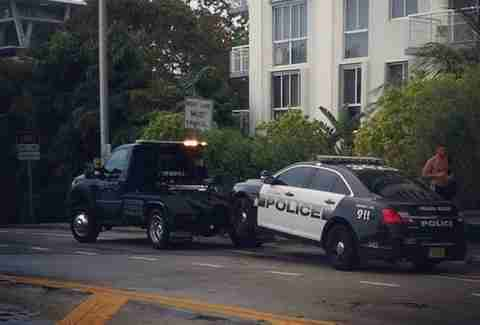 Miami Beach Police Car Tow