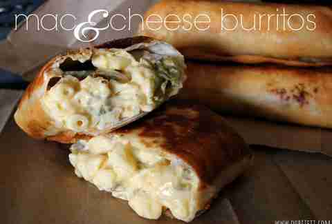 Mac 'n cheese burritos