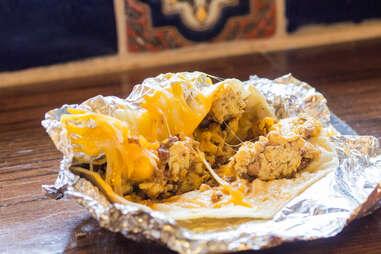 melty cheese taco