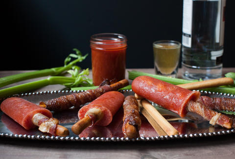 Boozy Bacon Bloody Mary Popsicles — Thrillist Recipes